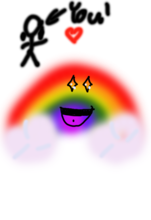 Rainbow is way too happy to see you