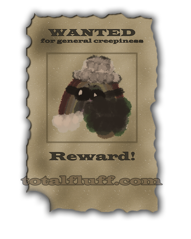 An old-west styled wanted poster for the Stalker Rainbow