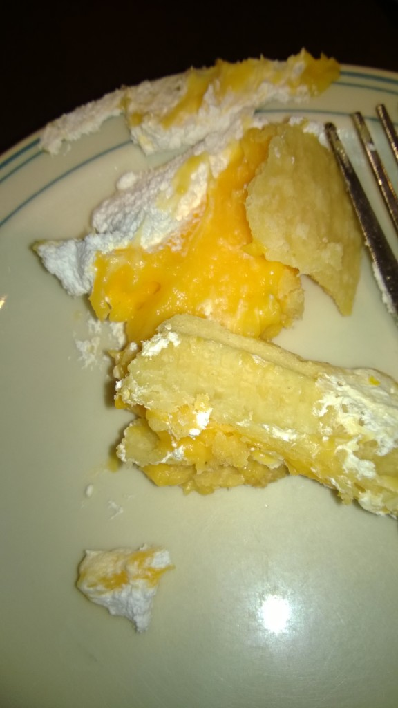 disturbing looking orange pie stuff.