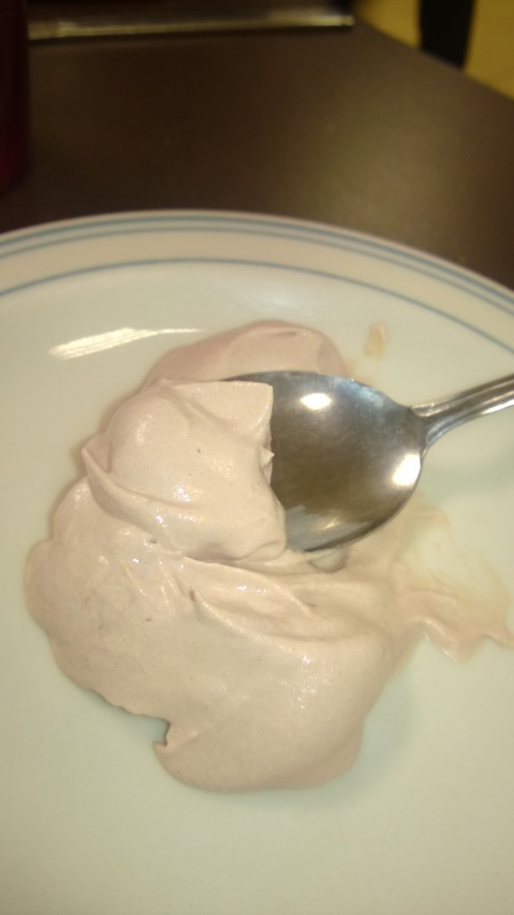 individual portion of peanut butter mousse