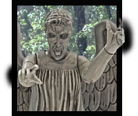 Weeping Angel leaving the picture